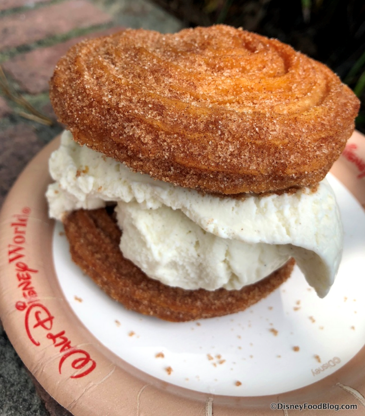 Disneyworld Ice Cream Churro Sandwich