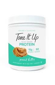 best tasting plant based protein powder tone it up peanut butter
