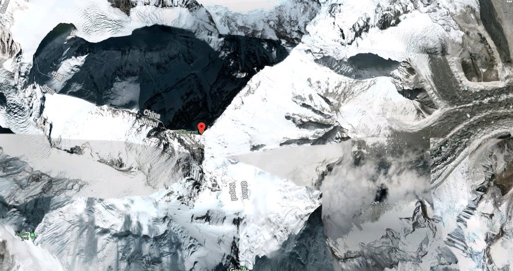 Top 5 Places To Look Up On Google Maps - Mount Everest