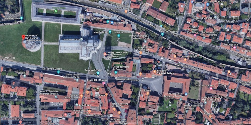 Top 5 Places To Look Up On Google Maps - Leaning tower