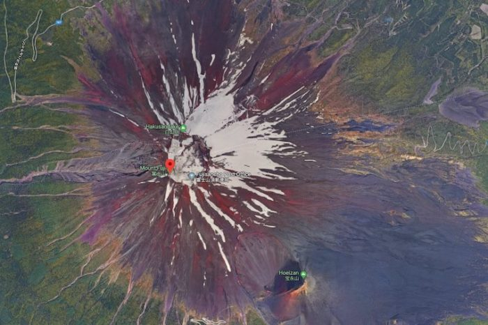 Top 5 places to look on Google Maps - Mount Fuji
