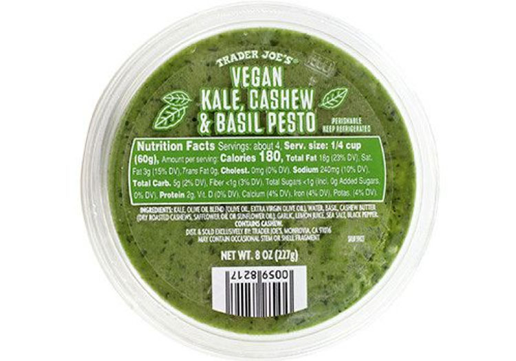 Top 5 Must Try Trader Joe's Products - Kale Cashew Pesto