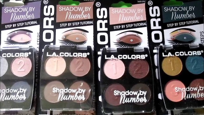 Top 5 L.A. Colors Beauty Products - Shadows by Numbers