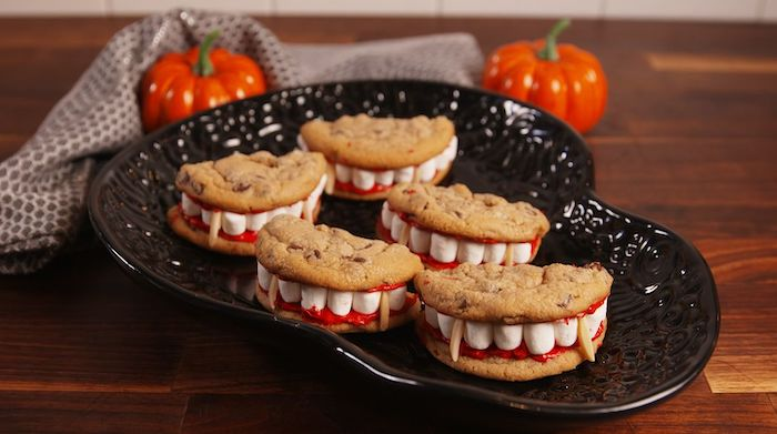 Fun Halloween Party Snacks - dracula dentures delish