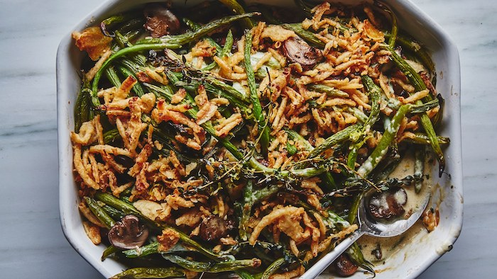 Thanksgiving Dinner Sides - green bean casserole