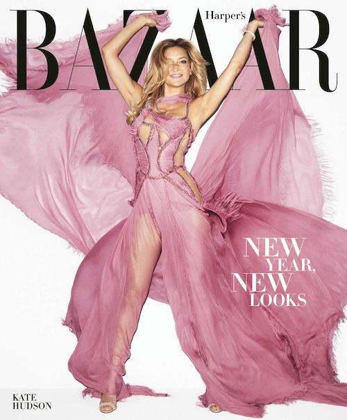 Top 5 Harper's Bazaar Magazine Covers - Kate Hudson