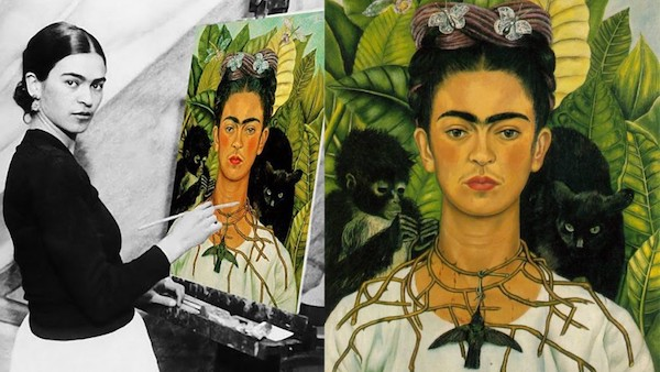 Top 5 Frida Kahlo Paintings - Thorn Necklace and Hummingbird