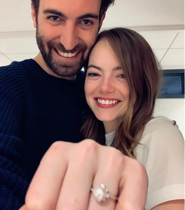 Top 5 Celebrity Weddings of 2020 - Emma Stone and Dave McCary