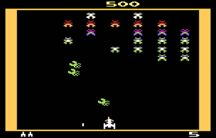 Top 5 Games on the Atari 2600 Video Game Console - Galaxian