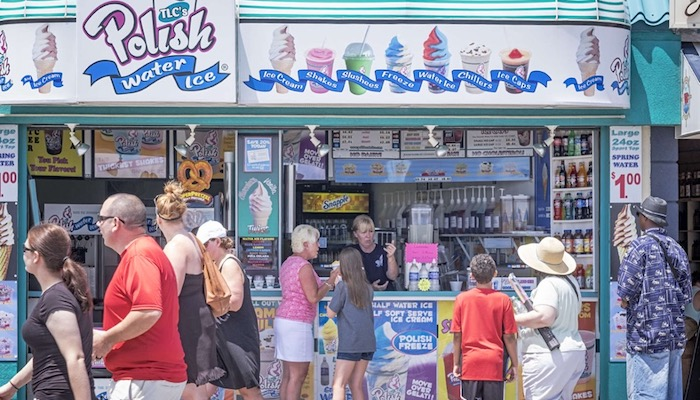 Top 5 Foods You Find On The Boardwalk - Jersey Shore - Polish Ice Water